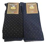6 PAIA di calze calzini UOMO LUNGHE caldo cotone,100% Made in Italy (SET FANTASIA A)