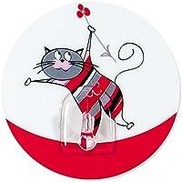 Tatkraft Funny Cats Chucho Gancho Adhesivo para Baño y Cocina d 8cm