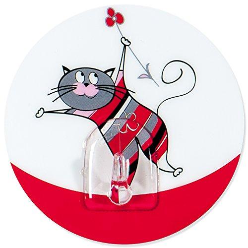 Tatkraft Funny Cats Chucho Stark Selbstklebend Haken Bad und Küche Mehrfachnutzung Static Cling