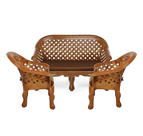 Nilkamal Luxury Four Seater Sofa 2-1-1 (Brown)