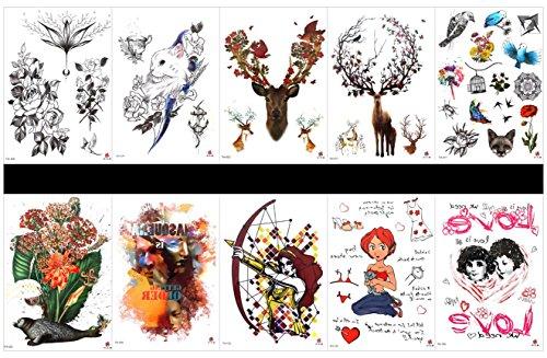 10PCS in 1 Paketen, einschließlich Siegel mit Blumen, Cartoon Mann und Frau, Blumen, Katze mit Blumen, Rehe, Vogel, Vogelkäfig, etc.