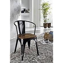 amazon.fr : chaise fer et bois - Chaise Fer Et Bois