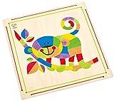 Hape E5115 - Sandmosaik AFFE, Kinder Bastelsets