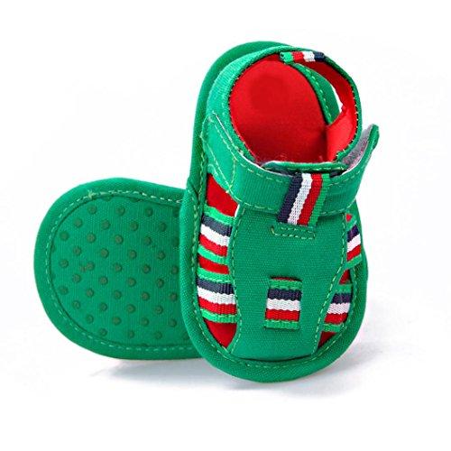 BZLine® Baby weichen Sohle Krippe Neugeborenen Sandals Schuhe Grün