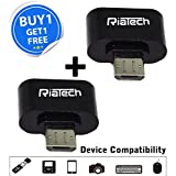 RiaTech® Buy 1 Get 1 Free Cute Little OTG Adapter Micro USB to USB 2.0 Converter for Android Smartphone and Tablet