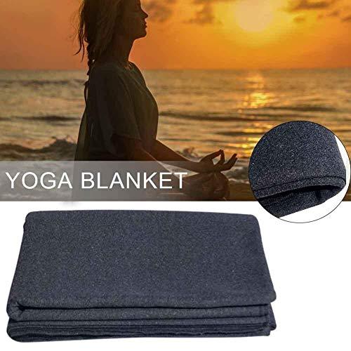 Yoga Meditationsdecke Dick für Männer Frauen Kinder Robust Langlebig Aus 100 Bio-Baumwolle Weich