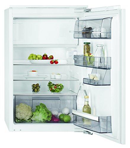 AEG SFB68821AF Kühlschrank mit Glasablagen / Gefrierfach mit Frostmatic für schnelles und schonendes Gefrieren / Einbaukühlschrank der Klasse A++ (148 kWh/Jahr) / 103 Liter Kühlschrank / 14 Liter Gefrierfach / Einbau-Höhe: 88 cm / weiß