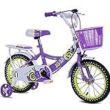 ZXUE Vélo pour enfants femmes 12 pouces 14 pouces 16 pouces garçon fille bébé vélo 3-10 ans enfants vélo (Couleur : Violet, taille : 16 inches)