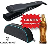 Cloud Nine® Wide Iron Stylingeisen, Styler mit großer Breite 4cm & Loreal Mythic Oil