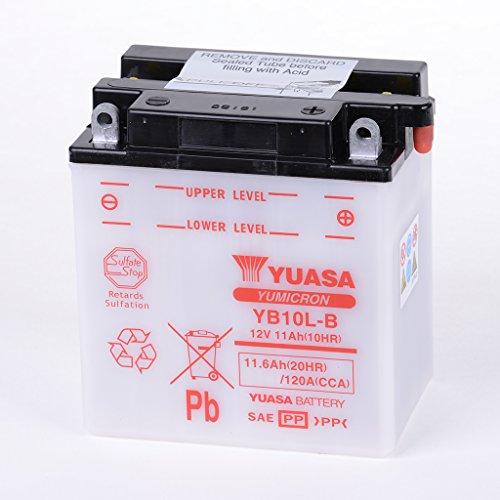 Batteria 12V 12Ah YB10L-B, umido Yuasa DIN 51113per Scarabeo 250VRB   Beverly 125M691  Hexagon 125M15-4tempi   X8250M364  GSX 550ed-EU GN71D