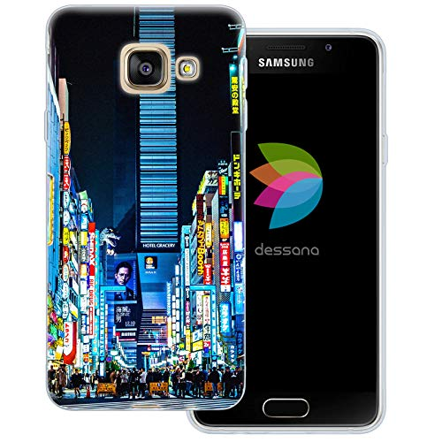 dessana Tokio Downtown transparente Schutzhülle Handy Case Cover Tasche für Samsung Galaxy A3 (2016) Shinjuku Downtown