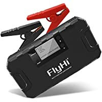 FlyHi 800A 18000mAh Portátil Jump Starter (hasta 6.5L Gas, 5.2L Diesel Engine) 12V Emergency Battery Booster Pack con Protección Inteligente integrada, teléfono Power Bank con LED Linterna
