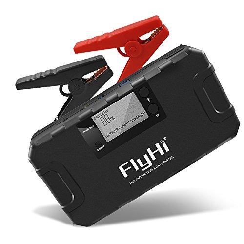 Kann Bank öl (FlyHi 800A 18000mAh Portable Auto Starthilfe (Bis zu 6.5L Gas, 5.2L Dieselmotor) 12V Notfall Batterie Booster Pack mit integriertem Smart Protection, Telefon Power Bank mit LED Taschenlampe)