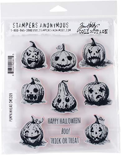 Unbekannt Stempel Anonymous das Halloween selbst Gummi-Stempel-Set, Kunststoff, Mehrfarbig, 24,8x 18,6x 0,8cm -
