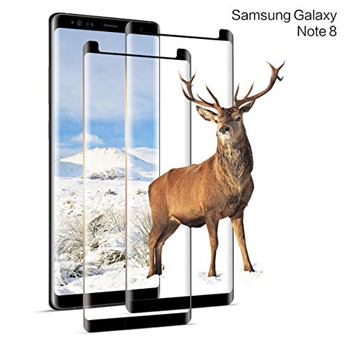 DOSNTO Pellicola Protettiva Vetro Temperato per Samsung Galaxy Note 8 2 Pezzi, [9H Durezza] 3D Curva, [HD Alta Trasparenza Senza Bolla] Pellicola Vetro per Samsung Galaxy Note 8