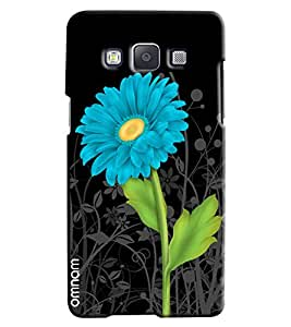 Omnam Blue Flower With Black Base Printed Designer Back Cover Case For Samsung Galaxy A5]