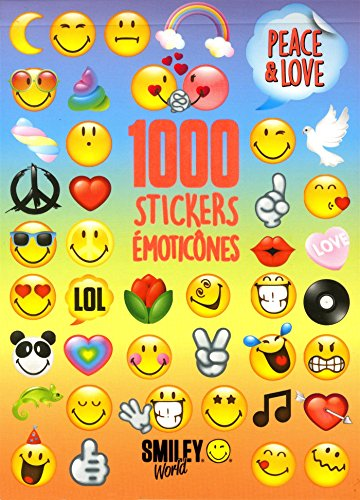 1 000 stickers émoticônes - Peace and Love par SMILEYWORLD