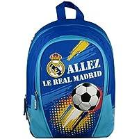 Real Madrid Sac à Dos Mixte Enfant, Bleu, 32 cm