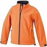 James & Nicholson Jungen Sportwear Set Softshelljacke orange (pop-orange) L (134/140)