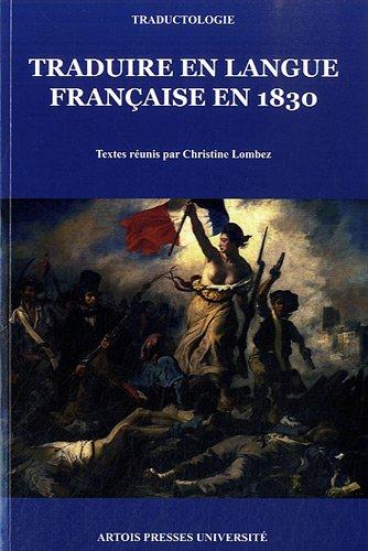 Traduire en langue française en 1830