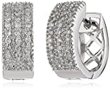 Diamonds by Ellen K. Damen Creolen 14 Karat 585 Gold weiß 52 Diamanten 0,25 ct 317310011-1