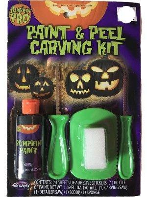 Pumpkin Pro Paint & Peel Carving Kit Kürbis Schnitz Set Grün (Pumpkin Masters)