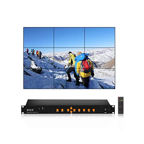 2Video Wall Controller USB+HDMI+VGA+AV TV HDMI With Fully-digital Processing Channel Inside 180 Degree, HD LCD splicing screen seamless led TV wall monitor display Support 1×4 4×1 1×3 51nVTpZfClL