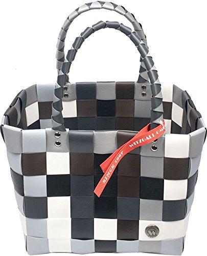 ICE-BAG Witzgall Original 5008 Mini-Shopper Einkaufskorb 33x18x22cm grau-braun-schwarz