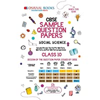 Oswaal CBSE Sample Question Paper Class 10 Social Science (For March 2019 Exam)