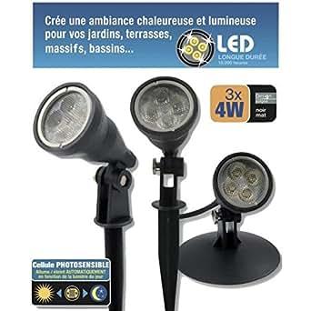 Kit 3 spots LED 4W étanches IP68
