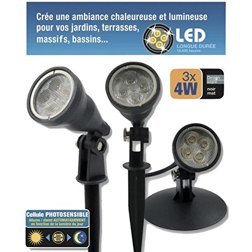 Kit 3 spots LED 4W étanches IP68