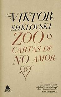 Zoo o cartas de no amor par Viktor Shklovski