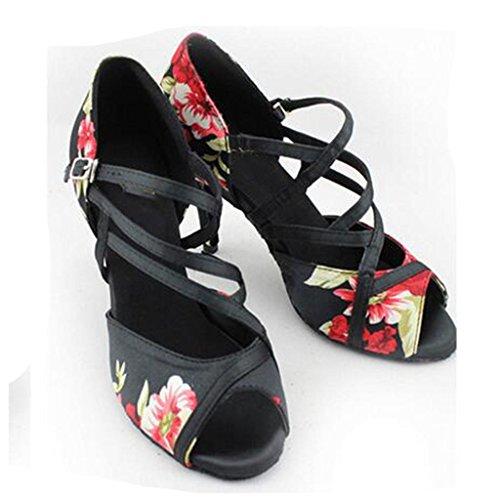 W&LM Signorina Moderno Scarpe Da Ballo Latino Scarpe Moderne Amicizia Scarpe Standard Nazionali Black
