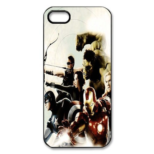 The Avengers Design Durable TPU Coque de protection Case Cover Coque de Protection pour Apple iPhone 5 5S, iPhone 5, iPhone 5, iPhone 5 5S Coque de protection Case (Blanc/Noir)