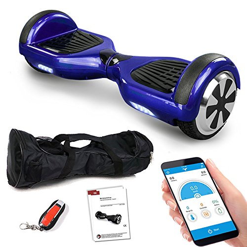 Smartway Hoverboard 6, 5 Zoll 600W mit Bluetooth Motion V.5 Balance Scooter, Blau, S