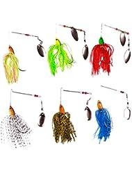 Free Fisher-6PCS Pesca Spinnerbaits señuelo de pesca con mosca para pesca Isca artificial Wobbler Spinnerbait Jig pesca de la carpa señuelos