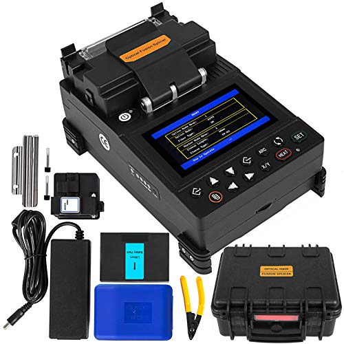 Mophorn Empalmador de Fibra Óptica Máquina de Empalme de Fibra Óptica Tiempo de Empalme 8S Manual Soldadura Fibra Monitor