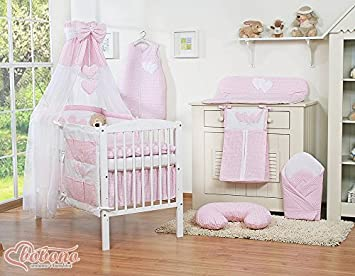 BABY GIRL NURSERY GINGHAM PINK BEDDING SET FOR COT BED - 11 pcs + FREE canopy holder! (COT BED) Amazon.co.uk Baby & BABY GIRL NURSERY GINGHAM PINK BEDDING SET FOR COT BED - 11 pcs + ...