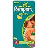 Pampers Baby Dry taille 4(7–18kg)–Pack économique Lot de 6x 52par paquet