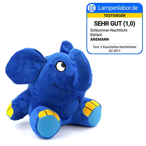 Imagen 1 de Ansmann 1800-0014 - Elefante de peluche con luz nocturna y nana para dormir [Importado de Alemania]