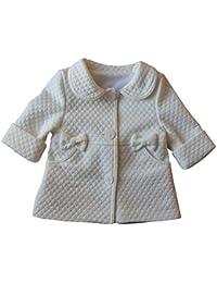Süßer Babymantel Mila rosa weiß Fleece Mütze Jacke Mantel Baby Taufe Hochzeit