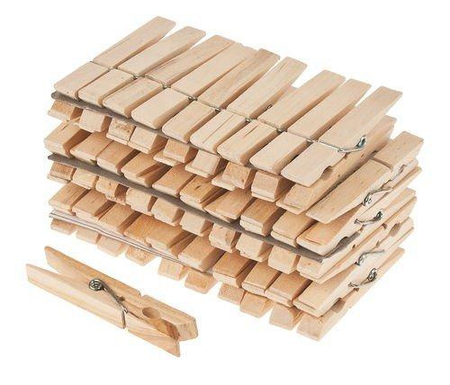 matches21 Wäscheklammern aus Holz 50 Stk. Je 4 cm lang für Geschenkverpackungen Adventskalender etc.