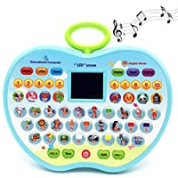 MTOYH E Pre-School Educational Learning Tablet Toys Computer Machine for Kids Toddlers Babies (blue)