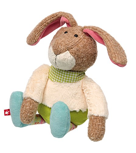 sigikid, Mädchen und Jungen, Stofftier Hase, Patchwork Sweety, Bunt, 38826