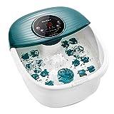 Bañera Para Pies, Hidromasaje de Pies con Masaje de Burbujas y por Vibración, Calentar el Agua, con 16 Masajea Rodillo, Relajación Nerve Decompression Foot