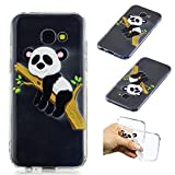 SpiritSun Galaxy A5 2017 Hülle, Samsung Galaxy A5 2017 Schutzhülle, TPU Flexible Silikon Case Etui Schutz Durchsichtige Tasche Transparente mit Muster Handyhülle Clear Cover Motiv-Baum Panda