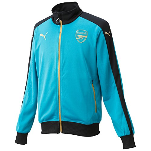 Puma Herren Jacke AFC Stadium Jacket, Capri Breeze/Anthracite/Victory Gold, XL, 747597 04