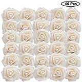 Artificielle Fleurs (50Pcs) - Fausse Rose avec Tige(18cm) - Roses Artificielles pour Vases, Bouquets de Mariage, Décorations Extérieures et Intérieur, Jardins - Parfaites pour Arrangements Floraux