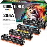 Cool Toner 4 Pack Compatible pour HP CF530A CF531A CF532A CF533A Toner HP 205A Toner...