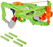 Nerf Zombie Strike Outbreaker Bow -- Real Crossbow Action -- 5-Dart Rotating Drum -- Includes 5 Official Nerf